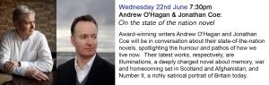 Andrew O'Hagan & Jonathan Coe_blurb
